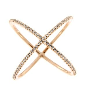 Jewelry - Cubic zirconia rose gold ring